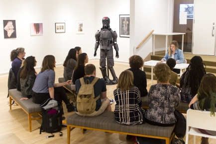 The 2018 Undergraduate Juried Exhibition made the George Caleb Bingham Gallery a lively location for a reading.